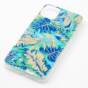Navy Palm Print Phone Case - Fits iPhone 11 Pro Max,