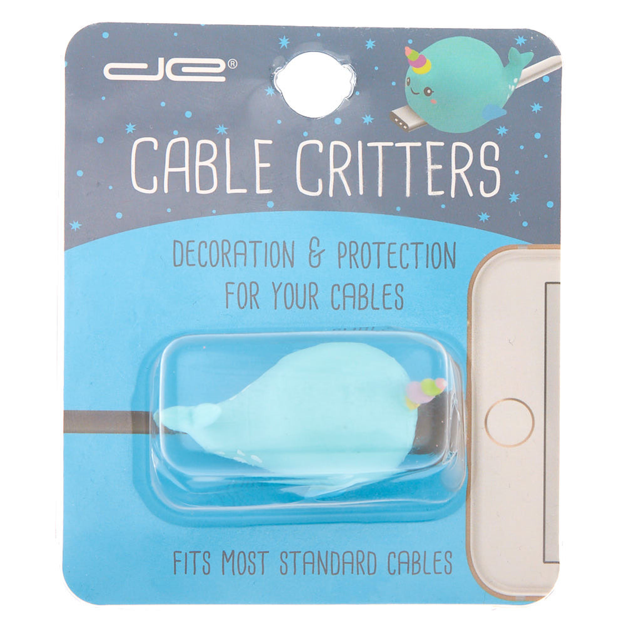 a5574847a Narwhal Cable Critter - Blue   Claire's