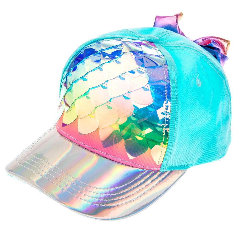Rainbow Claires Club Kids Sequin Unicorn Baseball Hat