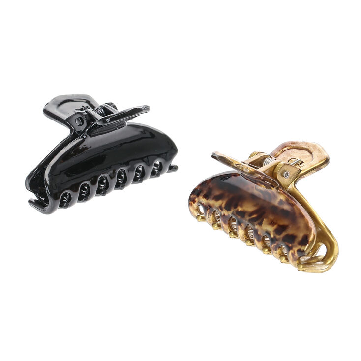 Leopard Print Hair Claws - 2 Pack,