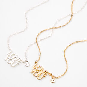Best Friends Love You Necklaces - 2 Pack,