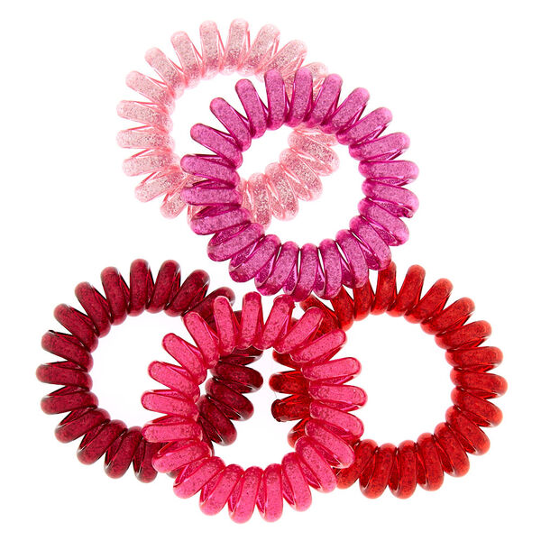 Claire's - mini glitter spiral hair bobbles - 2