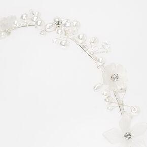Pearl and Rhinestone Flower Headband,