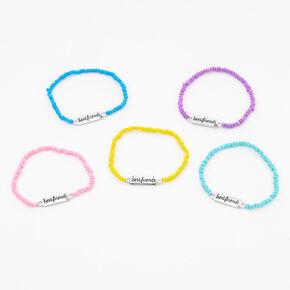 Pastel Beaded Stretch Friendship Bracelets - 5 Pack,