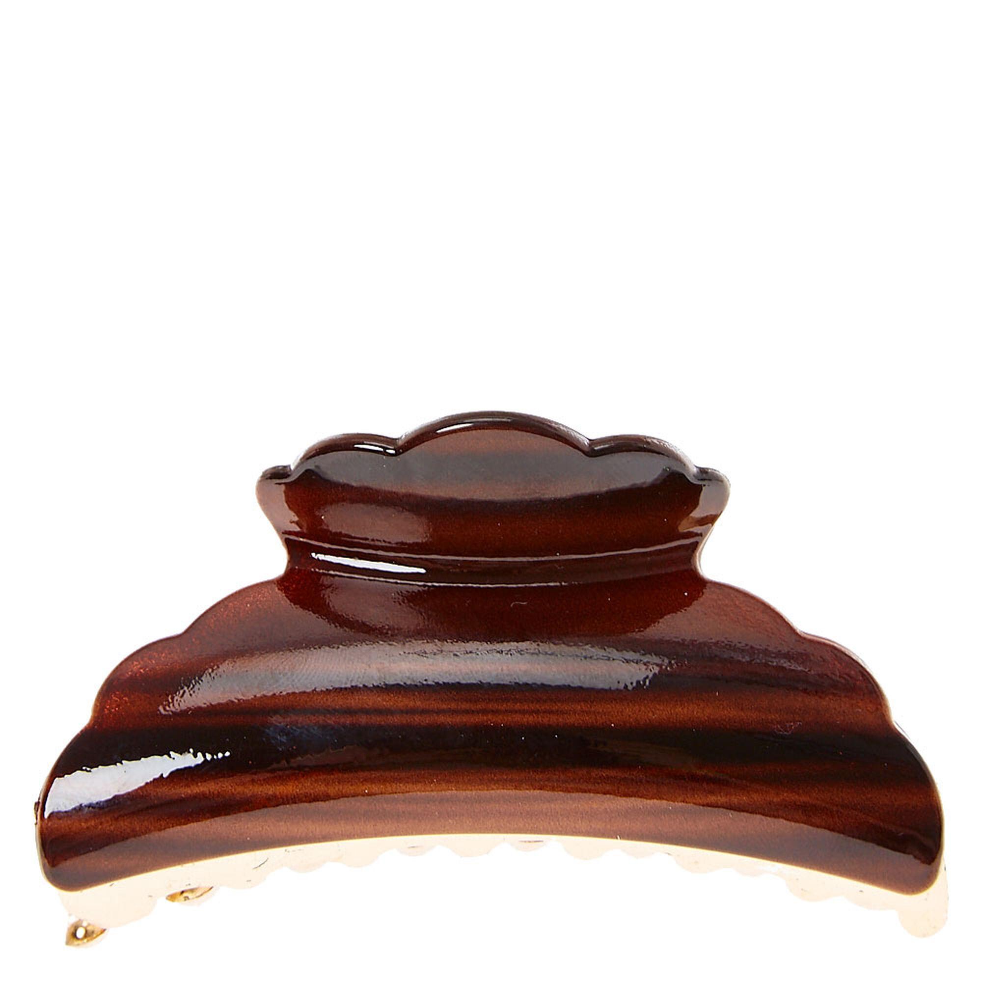 pince à cheveux en bois d'imitation couleur doré et brun | claire's fr
