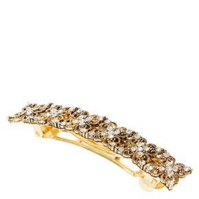 Vintage Gold Flower Barrette,