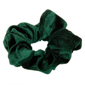 Medium Velvet Hair Scrunchie - Emerald,