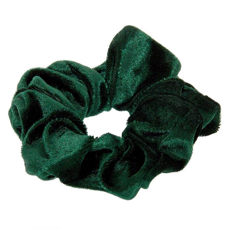 Medium Velvet Hair Scrunchie - Emerald,