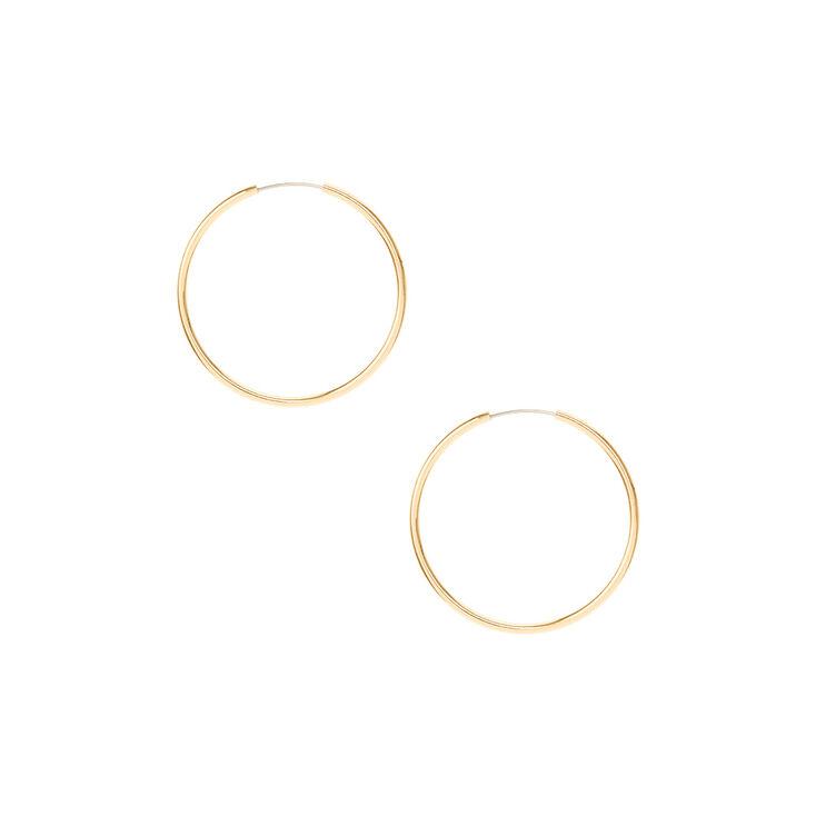 Gold 30mm Hoop Earrings,