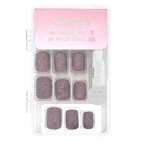 Claire's - glitterfaux nail set - 2