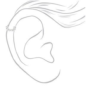 Manchette d'oreille classique avec perles d'imitation - Ivoire,
