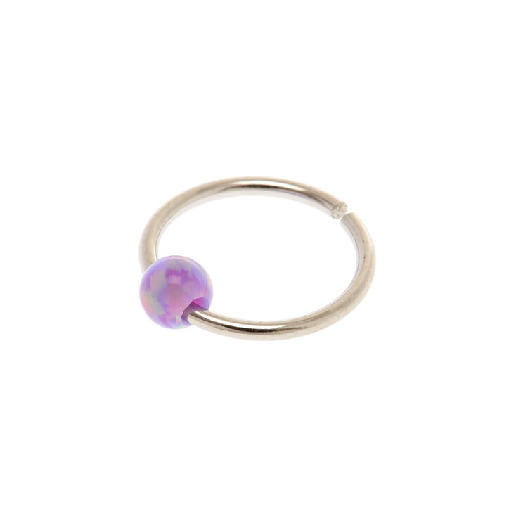 20g Purple Pink Opal Nose Ring Claire S Us