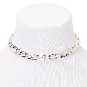 Silver Chunky Chain Necklace,