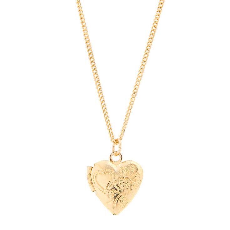 825e127de5 Kids Gold-tone Heart Locket Pendant Necklace   Claire's US