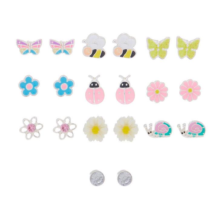 Spring Mix Stud Earrings - 10 Pack,