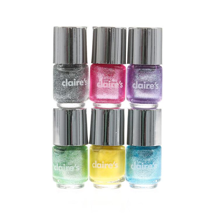 6 Pack Pastel Shimmer Nail Polish,