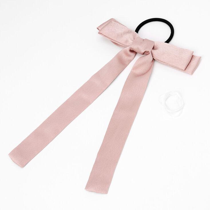 Kit d'accessoires à cheveux pour tresses avec nœud pailleté - Rose tendre,