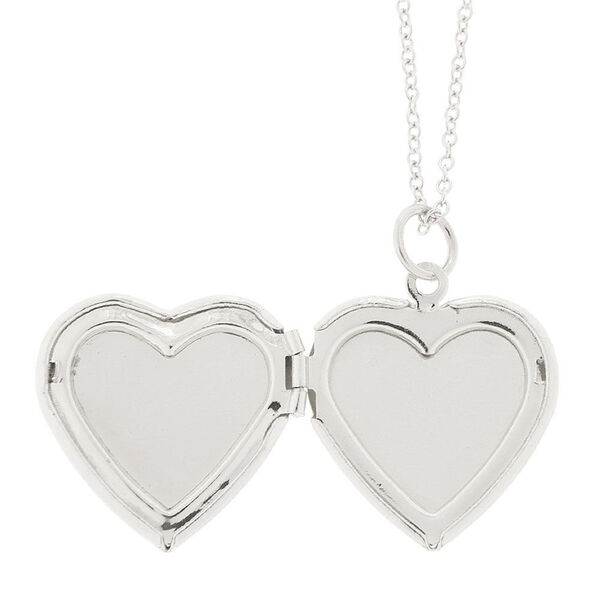 Claire's - glitter heart locket necklace - 2