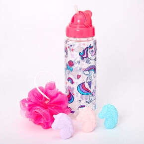 Miss Glitter the Unicorn Water Bottle Bath Set,