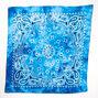 Tie Dye Bandana Headwrap - Blue,