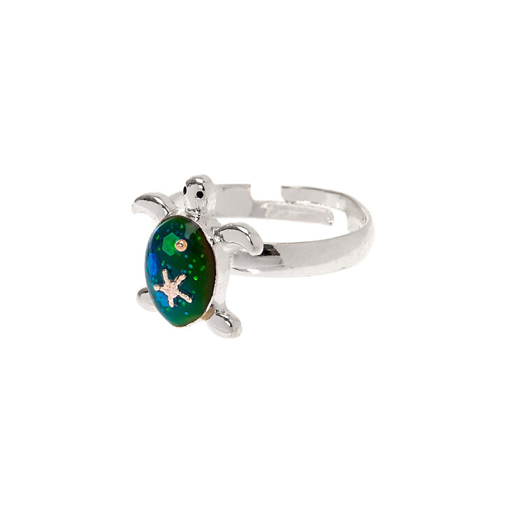 Silver Turtle Mood Ring,