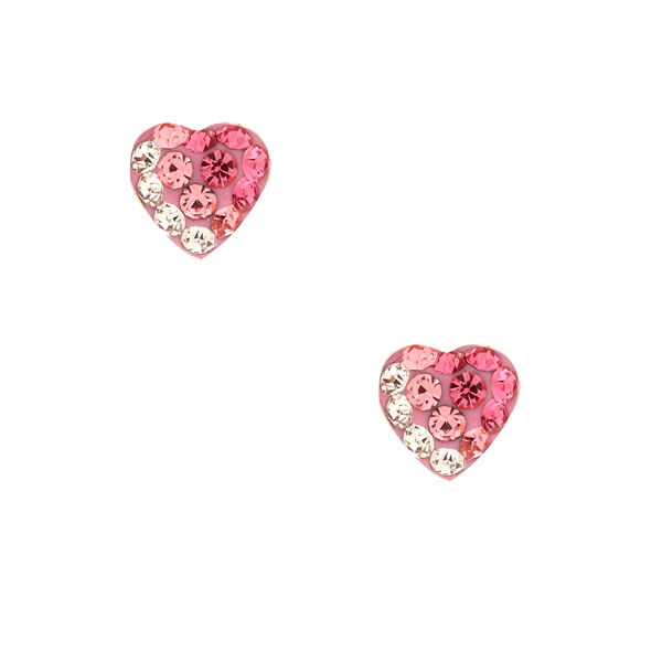 Claire's - sterling silver crystal ombre stud earrings - 1