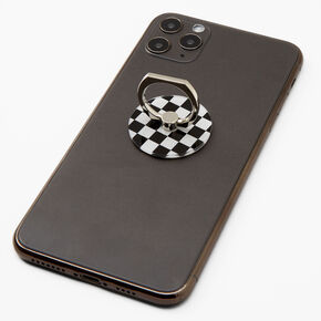 Black & White Checkered Ring Stand,