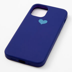 Navy Heart Protective Phone Case - Fits iPhone 12 Pro Max,