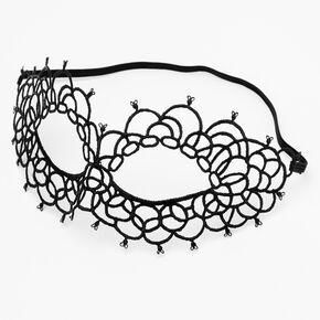 Lace Cut Out Mask - Black,
