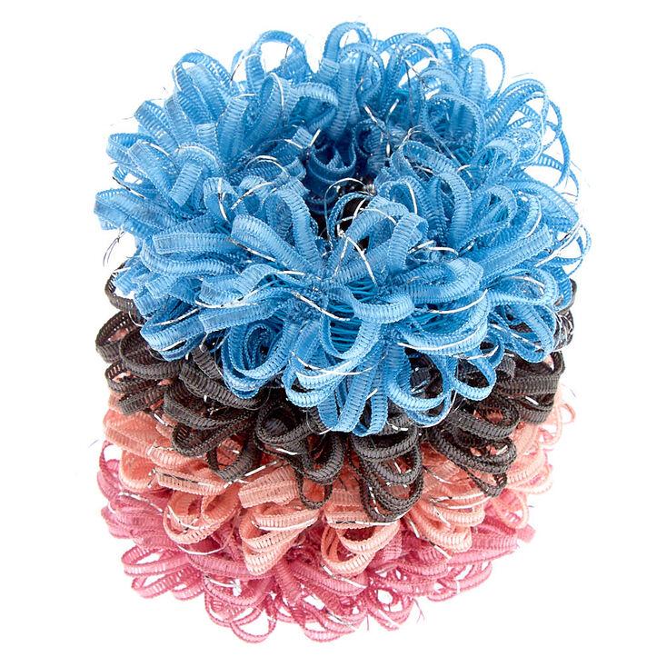 Pastel Lurex Loop Hair Bobbles - 4 Pack,