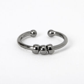 Hematite Beaded Faux Nose Ring,