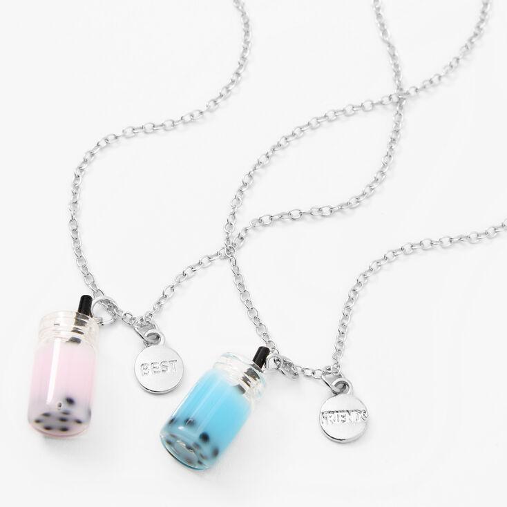 Best Friends Bubble Tea Pendant Necklaces - 2 Pack,