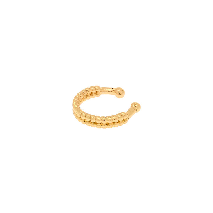 Gold Faux Cartilage Hoop Earring   Claire's US