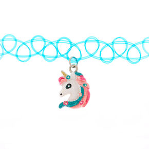 Claire's Club Rainbow Unicorn Choker Necklace,