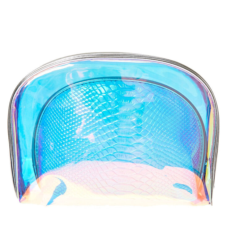 Holographic Dome Cosmetic Bag Set,