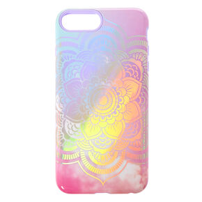 62be9228a Pastel Holographic Mandala Protective Phone Case - Fits iPhone 6/7/8 Plus