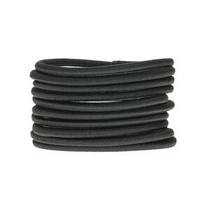 10 Pack Non-Metal Black Hair Bobbles,
