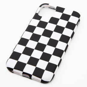 Black & White Checkered Phone Case - Fits iPhone 11,