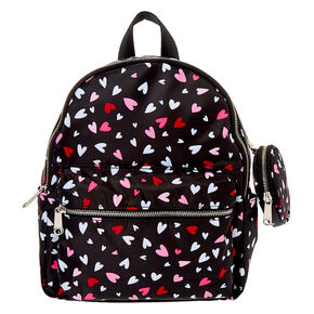 Nylon Hearts Medium Backpack - Black,