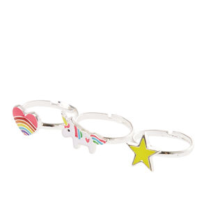 Rainbow Unicorn Stacking Rings,