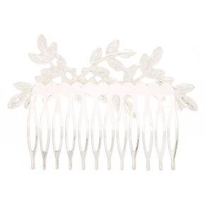 Silver Rhinestone Leaf Hair,
