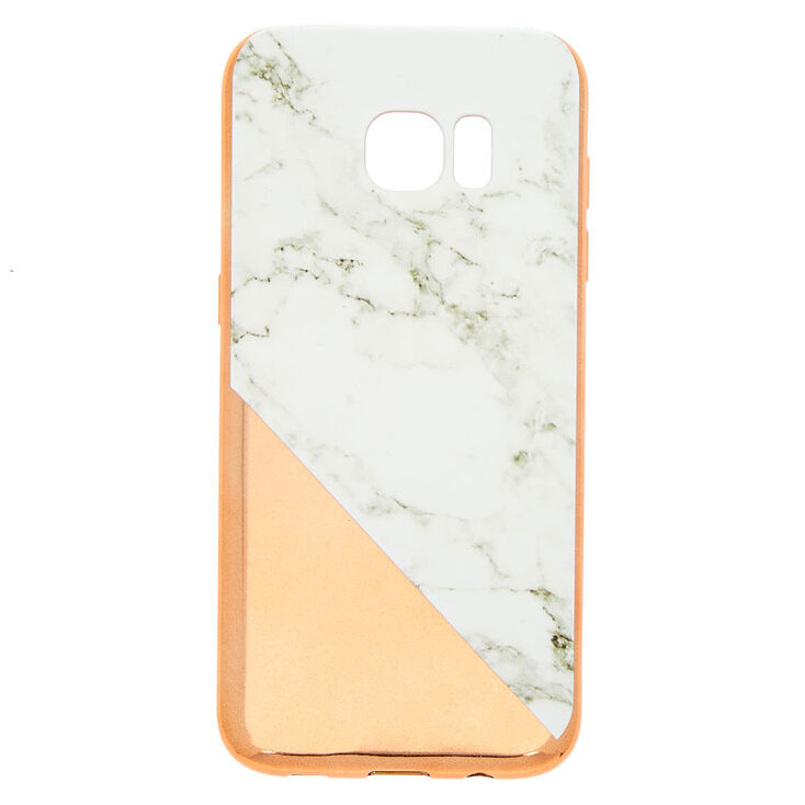 more photos 67b07 7c15d Rose Gold Marble Phone Case - Fits Samsung Galaxy S7 Edge