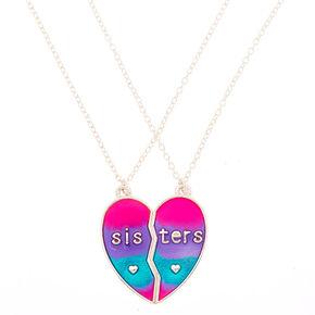 8f845f9965 Best Friends Pastel Heart Pendant Necklaces - 2 Pack
