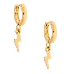 08c9456aa 18kt Gold Plated Bolt Hoop Earrings