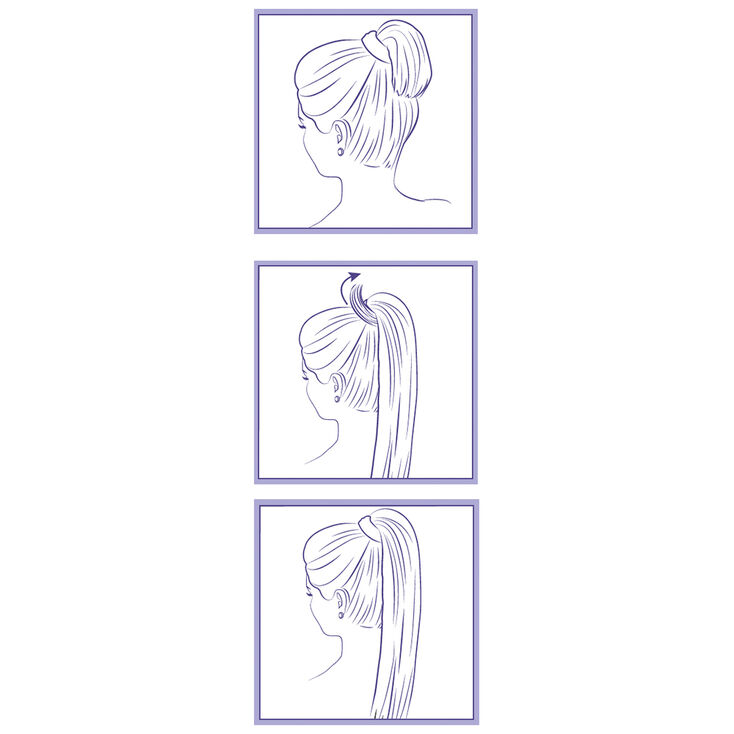 Faux Straight Long Hair Ponytail Wrap - Blonde,