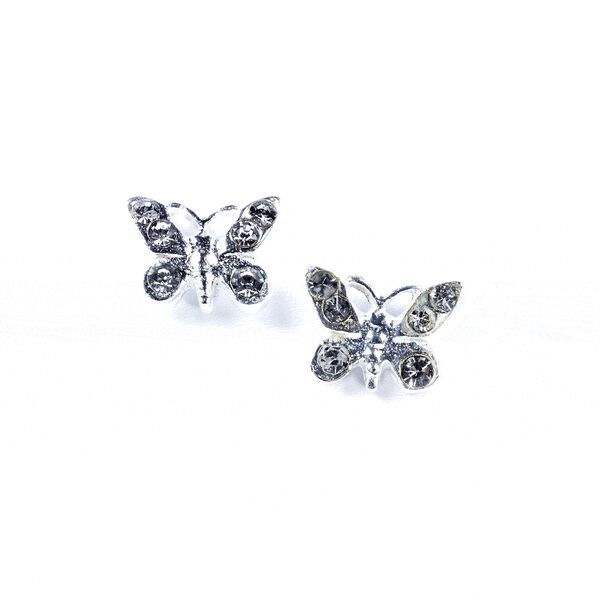 Claire's - sterling butterfly stud earrings - 1