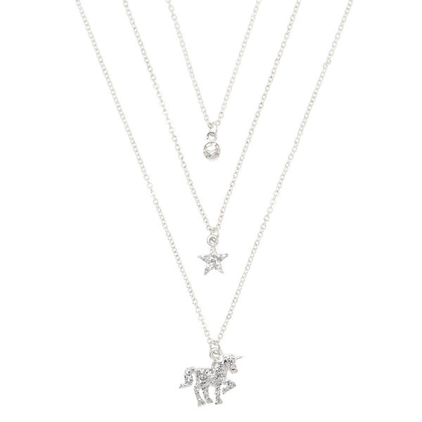 Claire's - glitter unicorn pendant necklaces - 1