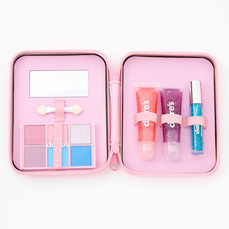 Rhinestone Hearts Bling Makeup Set - Pink,