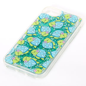 Tessa the Turtle Turquoise Glitter Liquid Fill Phone Case - Fits iPhone 6/7/8/SE,