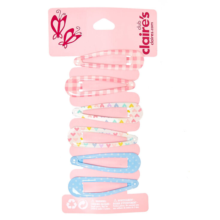 Claire's Club Spring Snap Hair Clips - 6 Pack,